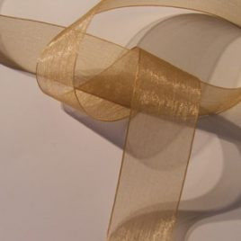 Gold organdy
