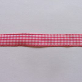 Gingham Shocking Pink