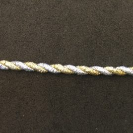 Silver & Gold Twist Braid