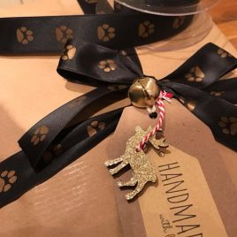 Printed Ribbon for Christmas Dog Gifts