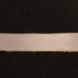 Gold Edge White Satin