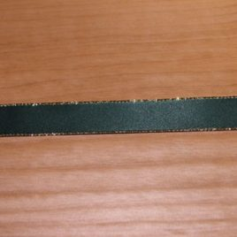 Gold Edge Hunter Green Satin