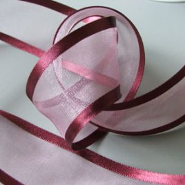 Burgundy Organza with satin edge