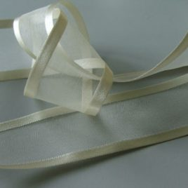 Ivory Organza with satin edge