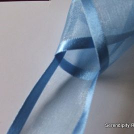 Cornflower Blue Organza with satin edge