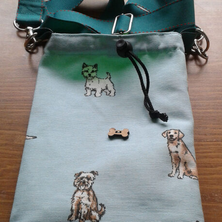 Treat bag with adjustable strap re sized